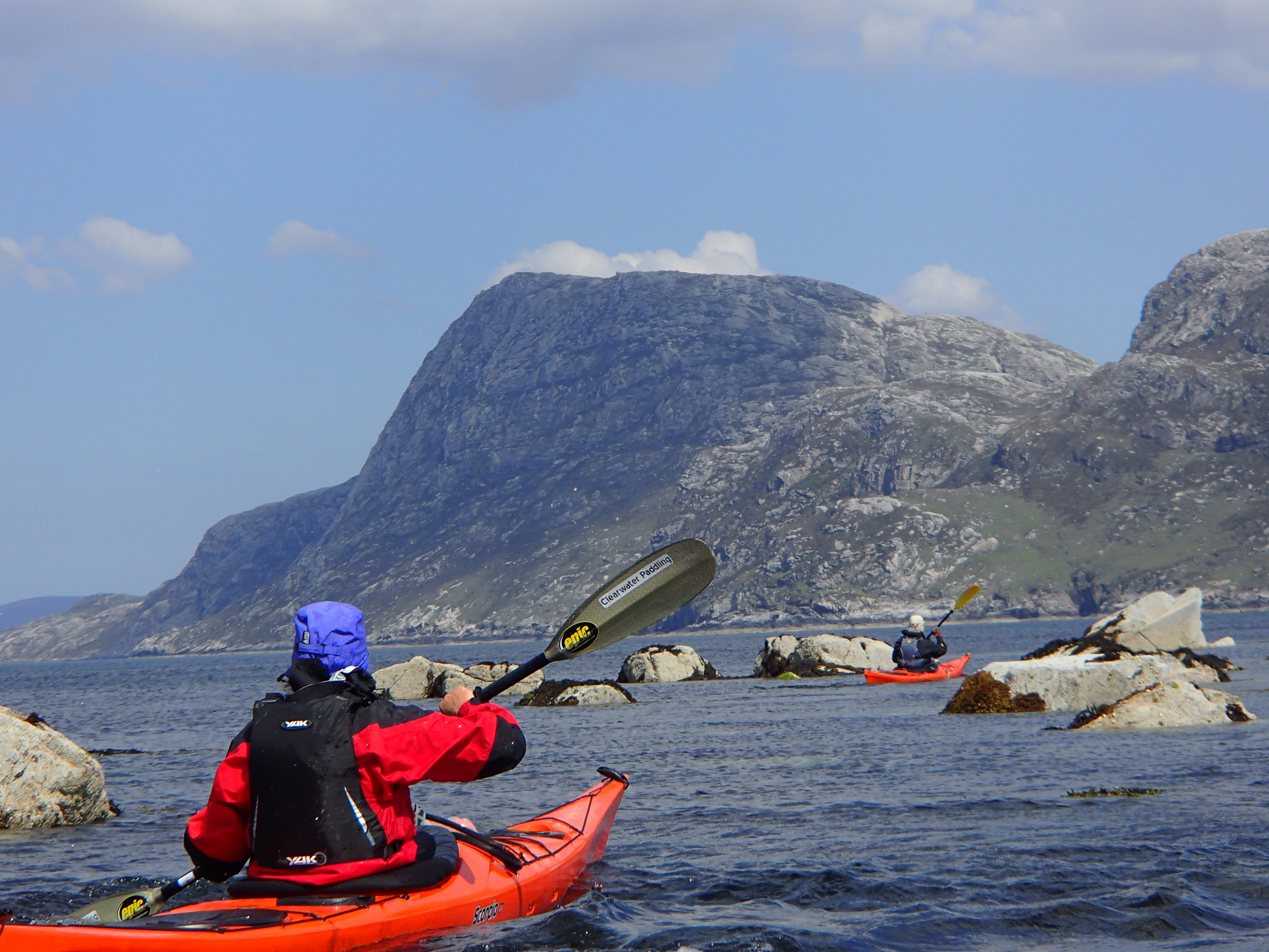 sea kayaking on the west coast of Harris