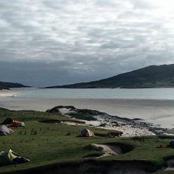 tent camp on Harris