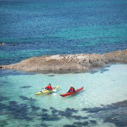 sea kayakers exploring Moidart