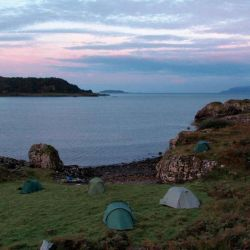 beautiful wild camp by the sea in the Inner Hebrides