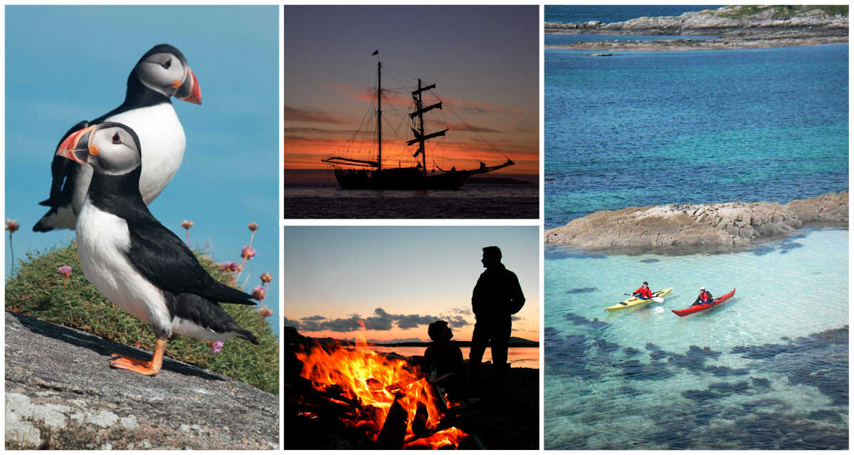Sea Kayaking wild camping and tall ship holidays